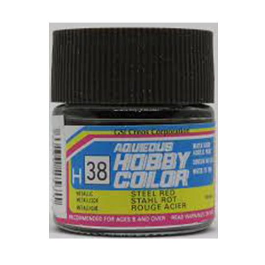 MR. HOBBY AQUEOUS COLOR H-038 (GLOSS STEEL RED) 10ML