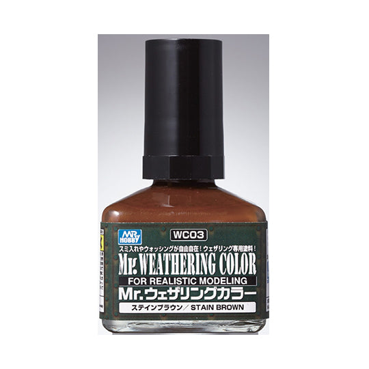 MR. WEATHERING COLOR WC03 STAIN BROWN 40ML