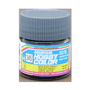 MR. HOBBY AQUEOUS COLOR H-345 (FLAT ROUGH GRAY) 10ML