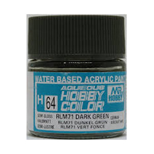 MR. HOBBY AQUEOUS COLOR H-064 (SEMI GLOSS RLM71 DARK GREEN) 10ML