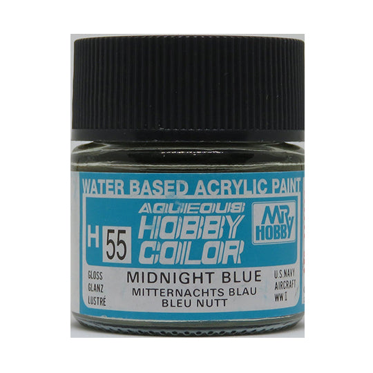 MR. HOBBY AQUEOUS COLOR H-055 (GLOSS MIDNIGHT BLUE) 10ML