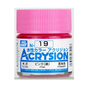 MR. HOBBY ACRYSION WATER BASED COLOR N-19 (GLOSS PINK) 10ml