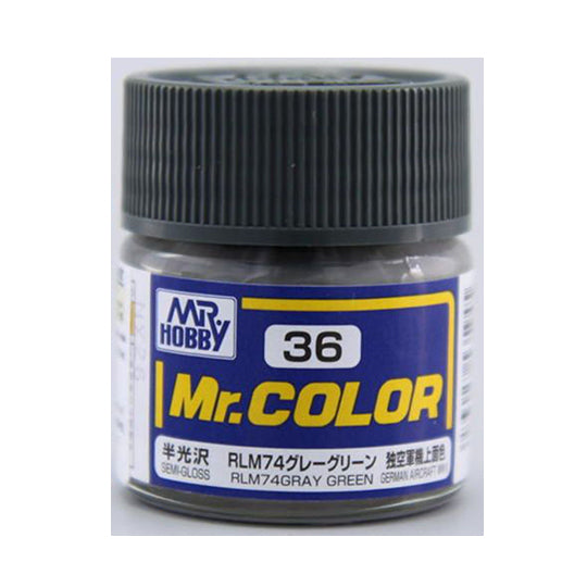 MR.COLOR 036 RLM74 GRAY GREEN (SEMI GLOSS) 10ML