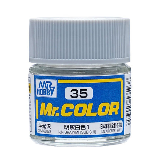 MR.COLOR 035 IJN GRAY (MITSUBISHI) (SEMI GLOSS) 10ML