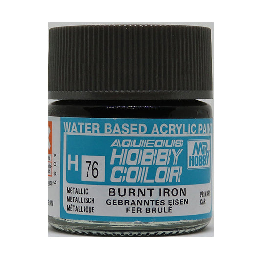 MR. HOBBY AQUEOUS COLOR H-076 (METALLIC BURNT IRON) 10ML