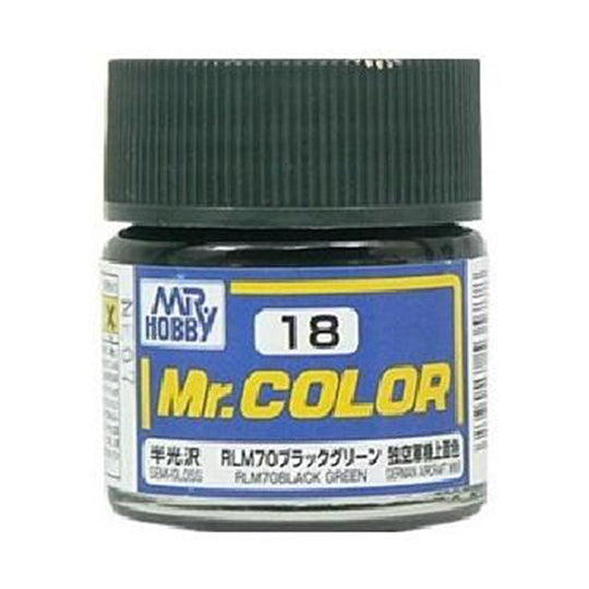 MR.COLOR 018 RLM70 BLACK GREEN 10ML
