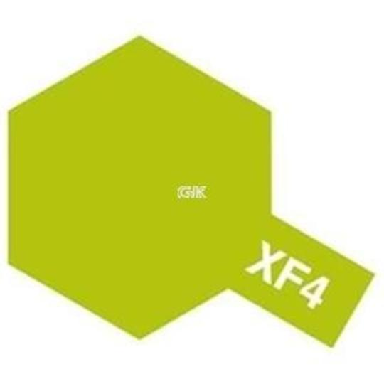 ENAMEL PAINT XF-4 FLAT YELLOW GREEN 10ML