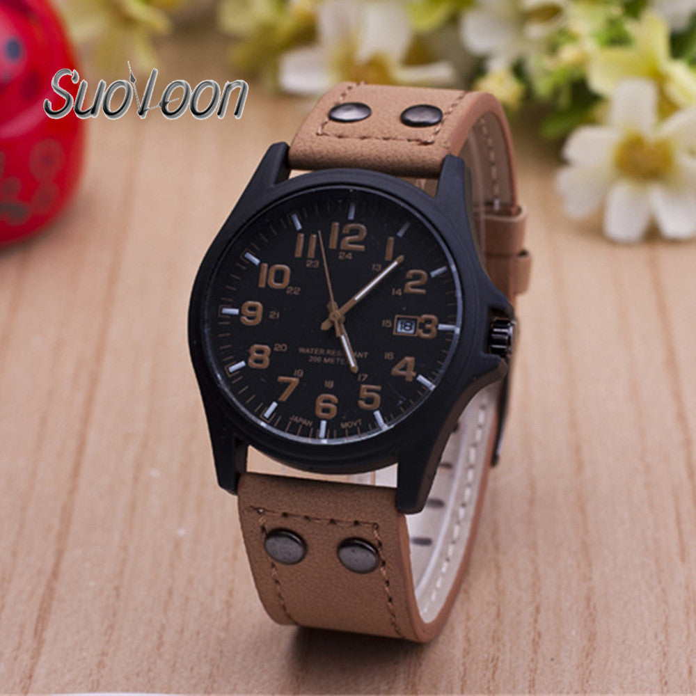 design time ju mens leather wrist watches s watch retro clock analog band men casual store relogio masculino product quartz pillar migeer military business