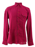 Men's Classic Red Gingham Check Shirt