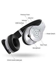 Mpow 059 Bluetooth Headphones with Hi-Fi Stereo, Wireless Headset w/Built-in Mic and Wired Mode for PC/Cell Phones/TV