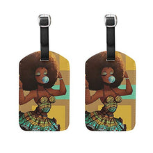 Load image into Gallery viewer, African American Girl Luggage Travel Tag