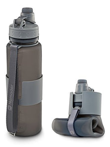 Nomader BPA Free Collapsible  - Foldable Sports Water Bottle with Reusable Leak Proof Twist Cap