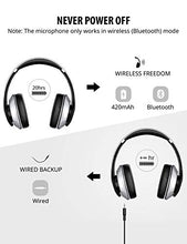 Load image into Gallery viewer, Mpow 059 Bluetooth Headphones with Hi-Fi Stereo, Wireless Headset w/Built-in Mic and Wired Mode for PC/Cell Phones/TV