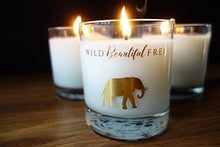 Load image into Gallery viewer, Wild Beautiful Free Lavender and Vanilla Organic Aromatherapy Candle with Pure Essential Oils for Stress Relief and Sleep - Dream Elephant Luxury Candle