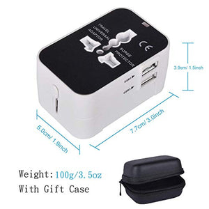 All in One Universal Travel Adapter with Dual USB Ports