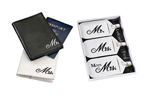 Mr. and Mrs. Matching Passport Covers and Luggage tags