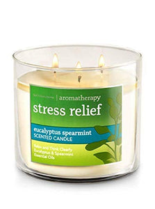 Bath & Body Works, Aromatherapy Stress Relief 3-Wick, Eucalyptus Spearmint Scented Candle