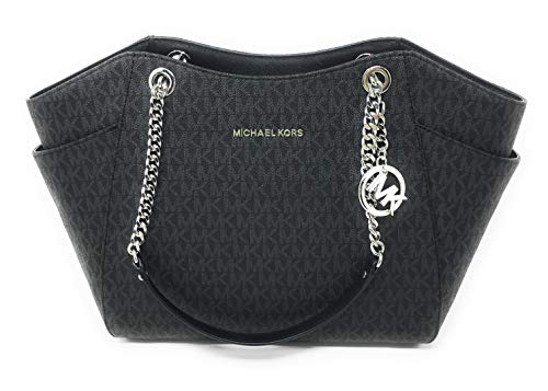 f79ad9cb681 Load image into Gallery viewer, MICHAEL KORS SIGNATURE JET SET TRAVEL CHAIN  SHOULDER TOTE BAG ...