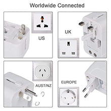Load image into Gallery viewer, All in One Universal Travel Adapter with Dual USB Ports