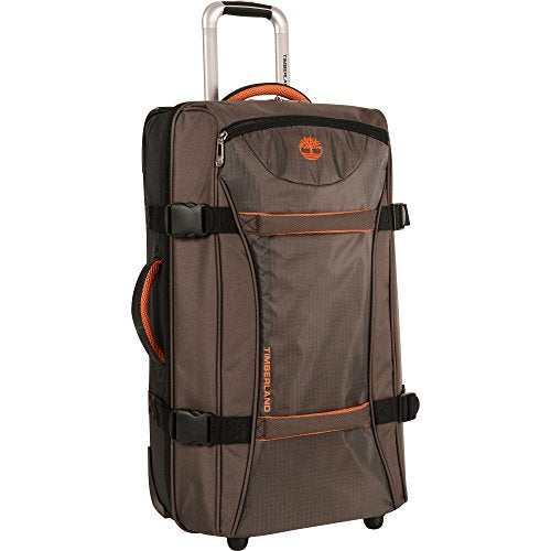 Timberland Wheeled Duffle Bag - 26 Inch Lightweight Rolling Luggage Travel Bag Suitcase for Men, Cocoa | Suitcases