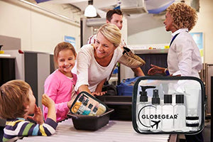 GLOBEGEAR Travel Bottles & TSA Approved  Leak-Proof  Clear Toiletry Bag