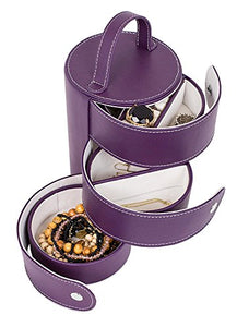 3 Tiered Tower Jewelry Box Organizer with Multi Compartments for Rings, Earrings, etc