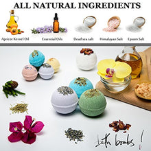 Load image into Gallery viewer, Organic Bath Bombs Gift Set Vegan (3.2 oz) / Bath Bombs For Sensitive Skin