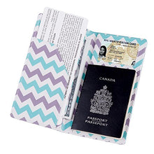 Load image into Gallery viewer, Passport Wallet Holder Cover Travel Wallet with 2 Matching Luggage Tags and Luggage Strap