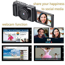 Load image into Gallery viewer, Full HD Digital Vlogging Camera/Camcorder 24MP