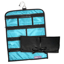 Load image into Gallery viewer, Tidybagz | Jewelry Roll Bag | Travel & Home Organizer | Safe, Elegant, Zippered Solution to Jewelry Organization | Large 7 Compartment Roll Bag: Gateway