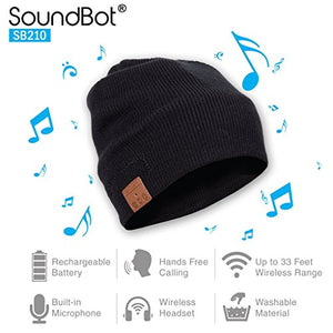 SoundBot SB210 HD Stereo Bluetooth 4.1 Wireless Smart Beanie with Headset and Speakerphone