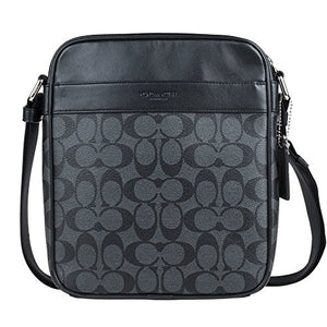 Coach Men's Flight Bag in Signature PVC 54788 in Charcoal/Black: Gateway