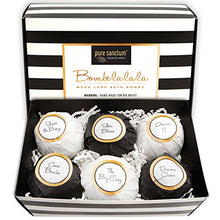 Load image into Gallery viewer, Bombs Gift Set - Luxury Bath Fizzies - Lush Size 6oz Natural Bath Balls - US Made by Bombe la la la