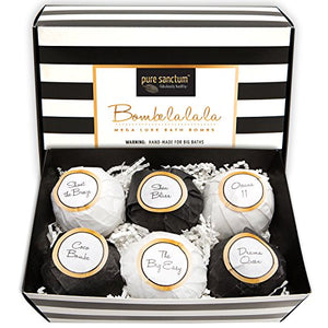 Bombs Gift Set - Luxury Bath Fizzies - Lush Size 6oz Natural Bath Balls - US Made by Bombe la la la