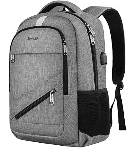 02847020cf7c Travel Laptop Backpack, Anti Theft Backpack with USB Charging Port for Men  and Women, Water Resistant College School Computer Bookbag, Slim Business  ...