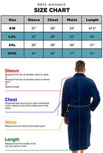 Load image into Gallery viewer, Ross Michaels Mens Plush Shawl Collar Kimono Bathrobe Robe
