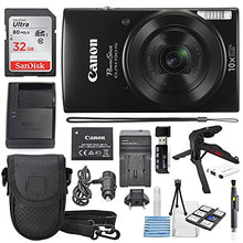 Load image into Gallery viewer, Canon PowerShot ELPH 190 IS Digital Camera (Black) with 10x Optical Zoom and Built-In Wi-Fi with 32GB SDHC + Flexible tripod + AC/DC Turbo Travel Charger + Replacement battery + Protective camera case