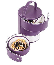 Load image into Gallery viewer, 3 Tiered Tower Jewelry Box Organizer with Multi Compartments for Rings, Earrings, etc