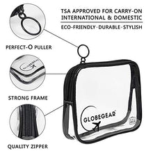 Load image into Gallery viewer, GLOBEGEAR Travel Bottles & TSA Approved  Leak-Proof  Clear Toiletry Bag