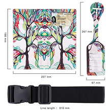 Load image into Gallery viewer, Passport Wallet Holder Cover Travel Wallet with 2 Matching Luggage Tags and Luggage Strap (LOVE TREE) | Passport Covers