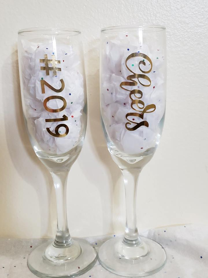 Personalized Wine Flute Set