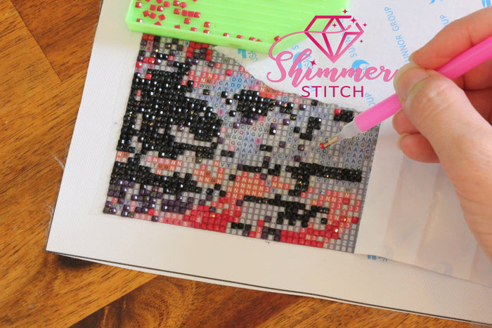 Diamond Painting Tutorial & Shimmer Stitch Kit Unboxing