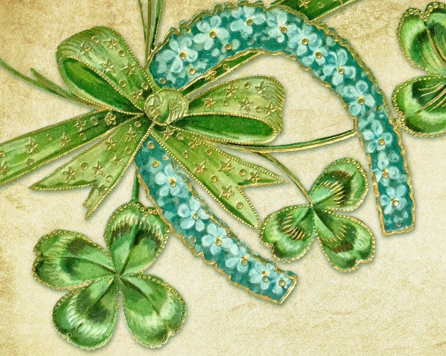 "Green Lucky Charms - 16""x20"" (40cm x 50cm) - Round or Square Diamonds"