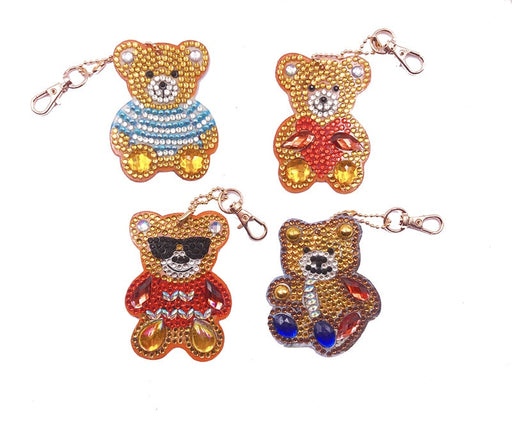 Teddy Bear Keychains - Set of 4