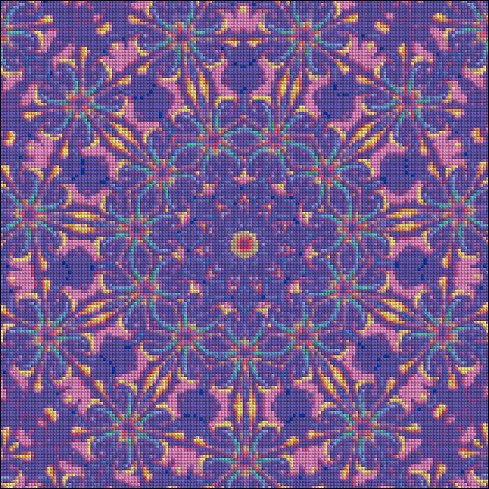 Purple Flowers Mosaic