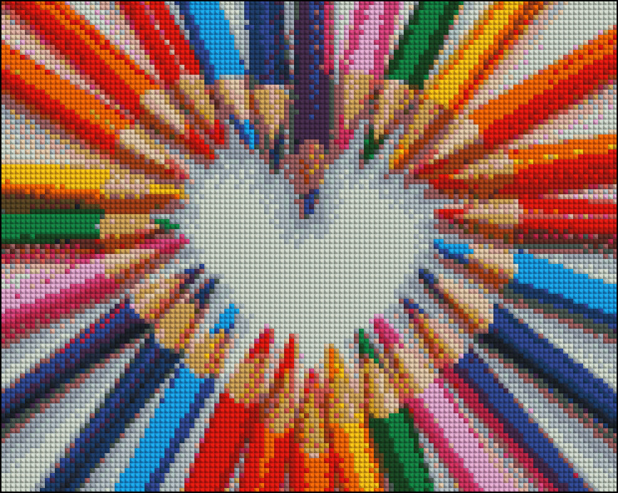 Rainbow Heart Pencils