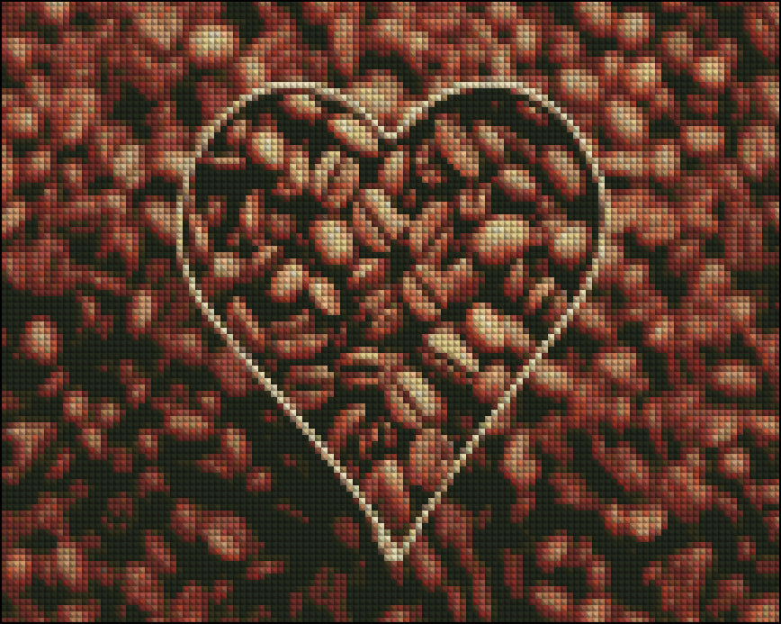 This is a photo of Coffee beans in a Diamond canvass