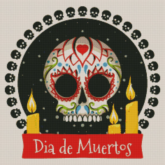 Day of the Dead - Shimmer Stitch