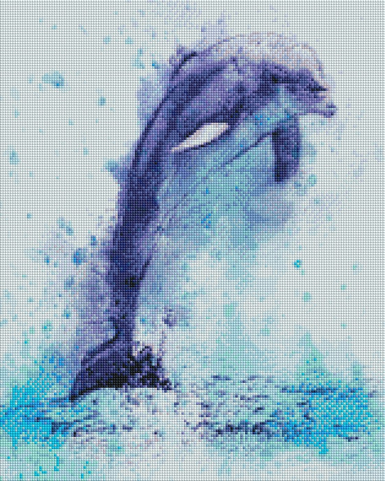 Dolphin Painting - Shimmer Stitch
