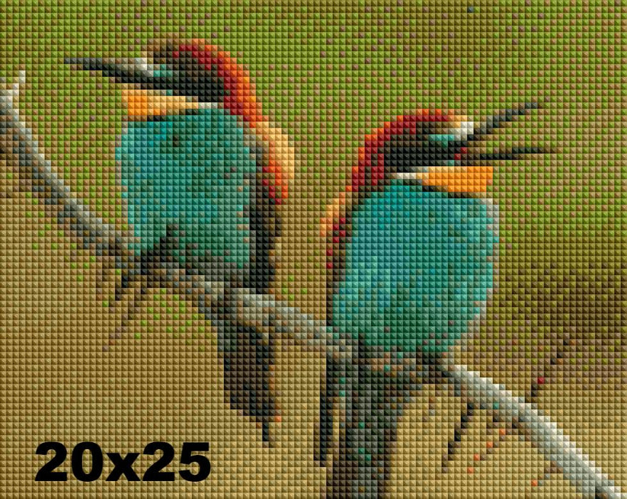 FREE Diamond Painting Kit: Two Birds - Shimmer Stitch